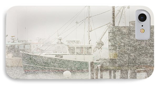Snowstorm In Bass Harbor Mount Desert Island Maine Photograph IPhone Case