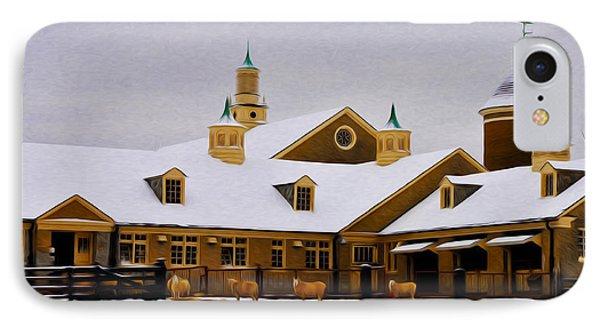 Snowy Day At Erdenheim Farm IPhone Case by Bill Cannon