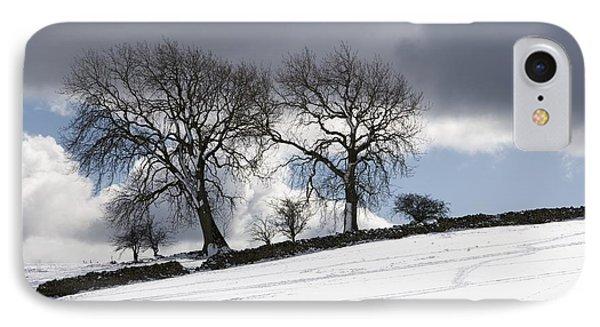 Snowy Field, Weardale, County Durham Phone Case by John Short