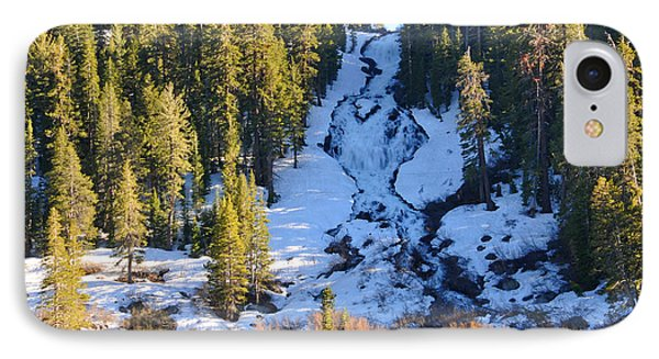 IPhone Case featuring the photograph Snowy Heart Falls by Lynn Bauer