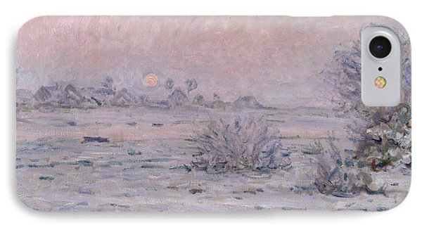 Snowy Landscape At Twilight Phone Case by Claude Monet