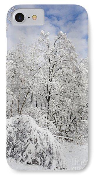Snowy Landscape Phone Case by Len Rue Jr and Photo Researchers