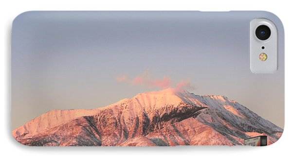 Snowy Mountain At Sunset IPhone Case by Adam Cornelison