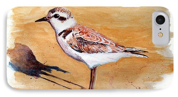 IPhone Case featuring the painting Snowy Plover by Chriss Pagani