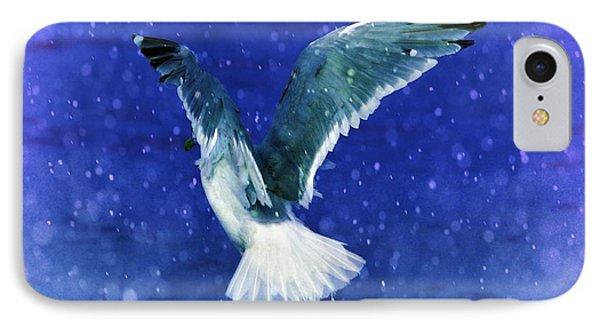 Snowy Seagull Phone Case by Debra  Miller