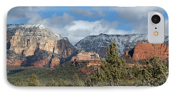 Snowy Sedona Afternoon IPhone Case by Sandra Bronstein