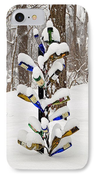 Snowy Wine Bottle Sculpture Phone Case by Aimee L Maher Photography and Art Visit ALMGallerydotcom
