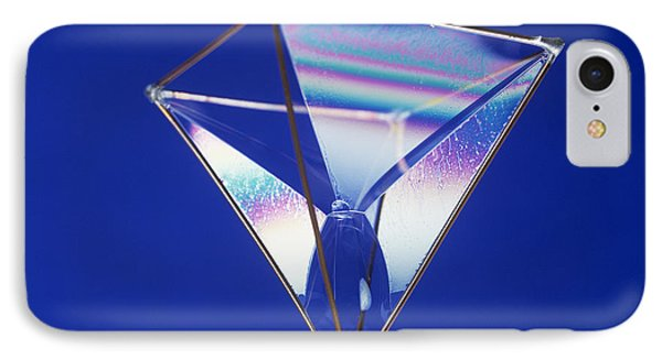 Soap Films On A Pyramid Phone Case by Andrew Lambert Photography