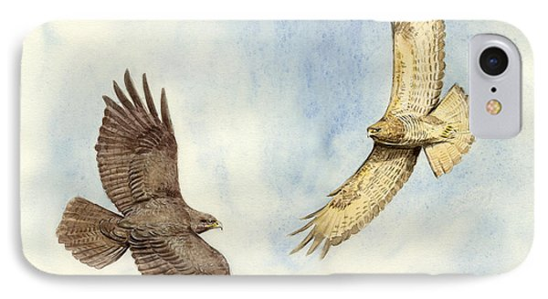 Soaring Buzzards Phone Case by Chris Pendleton