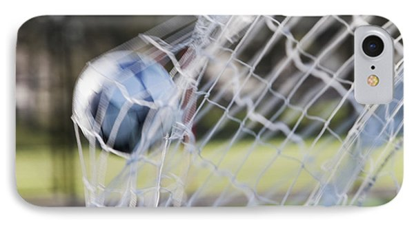 Soccer Ball In Goal Netting Phone Case by Jetta Productions, Inc