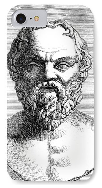 Socrates, Ancient Greek Philosopher Phone Case by