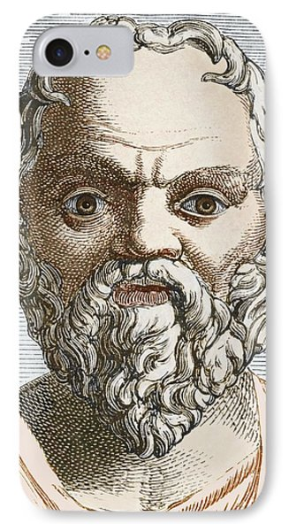 Socrates, Ancient Greek Philosopher Phone Case by Sheila Terry