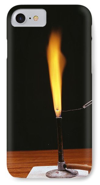 Sodium Flame Test Phone Case by Andrew Lambert Photography