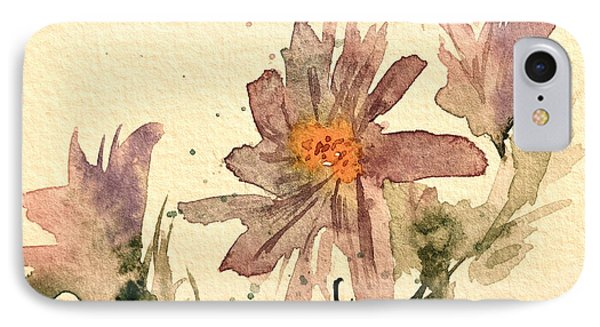Soft Asters Aged Look Phone Case by Beverley Harper Tinsley