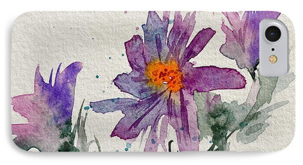 Soft Asters Phone Case by Beverley Harper Tinsley