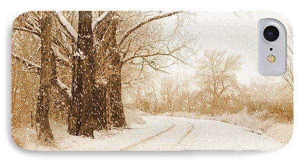 Soft Sepia Season's Greetings Card Phone Case by Carol Groenen