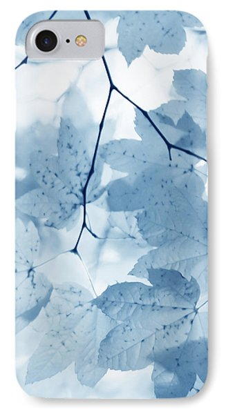 Softness Of Blue Leaves Phone Case by Jennie Marie Schell