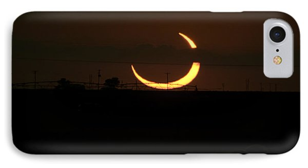 Solar Eclipse In Lubbock Texas Phone Case by Melany Sarafis