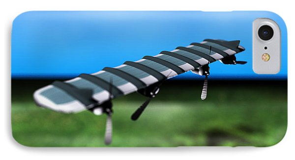 Solar Powered Aeroplane, Artwork Phone Case by Christian Darkin