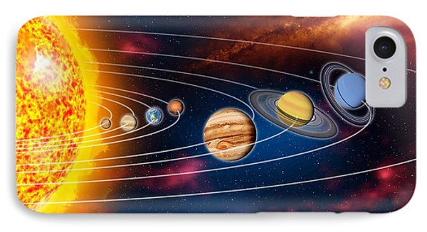 Solar System Planets Phone Case by Jose Antonio PeÑas