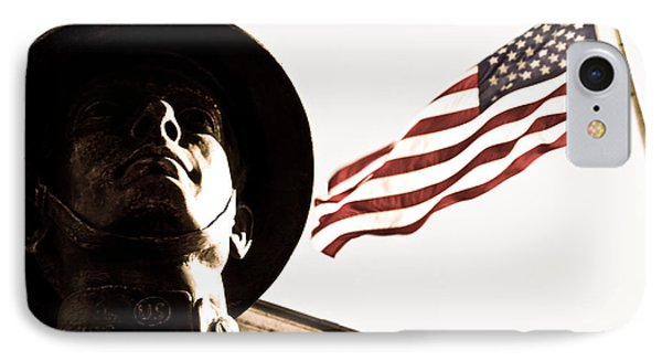 Soldier And Flag Phone Case by Syed Aqueel