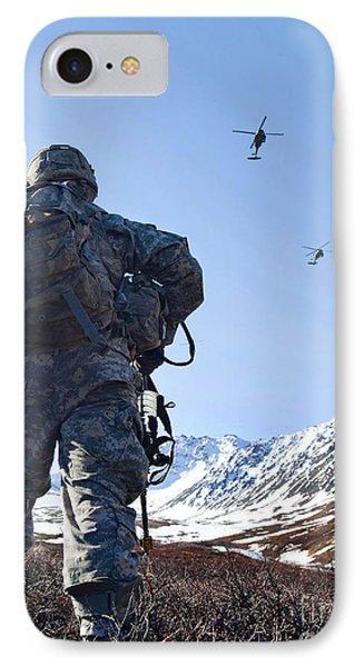 Soldier Patrols Through Alaska's Phone Case by Stocktrek Images