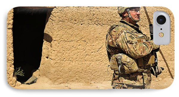 Soldier Stands Guard During A Routine Phone Case by Stocktrek Images