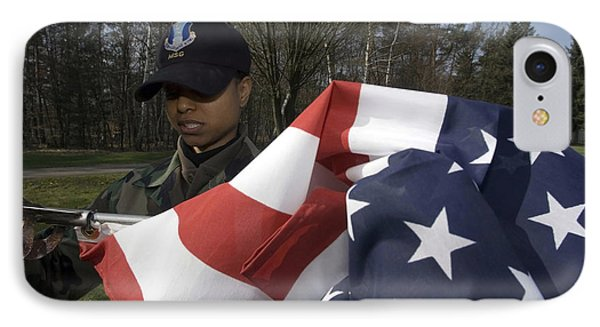Soldier Unfurls A New Flag For Posting Phone Case by Stocktrek Images