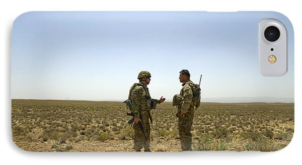 Soldiers Discuss, Drop Zone Phone Case by Stocktrek Images