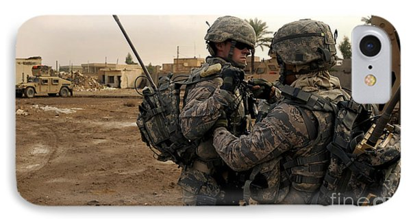 Soldiers Help One Another Phone Case by Stocktrek Images