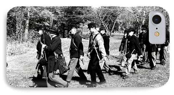 Soldiers March Black And White II Phone Case by LeeAnn McLaneGoetz McLaneGoetzStudioLLCcom