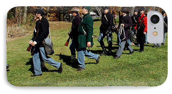 Soldiers March Two By Two Phone Case by LeeAnn McLaneGoetz McLaneGoetzStudioLLCcom