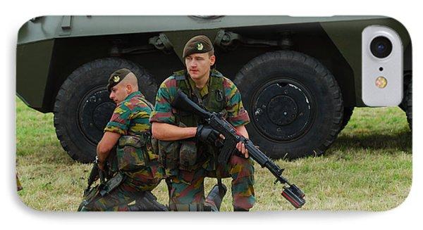 Soldiers Of An Infantry Unit Phone Case by Luc De Jaeger