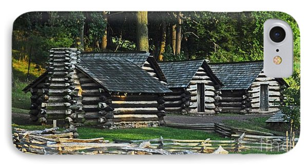 IPhone Case featuring the photograph Soldiers Quarters At Valley Forge by Cindy Manero