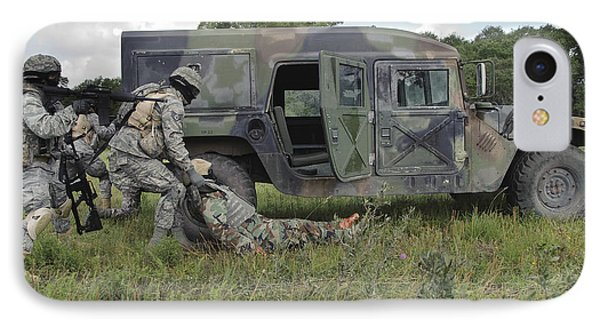 Soldiers Recover The Victim IPhone Case by Stocktrek Images