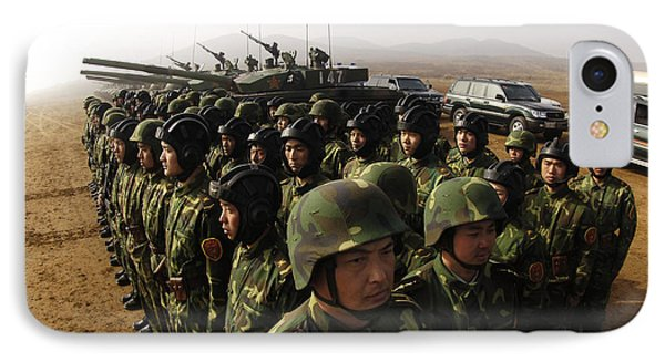 Soldiers With The Peoples Liberation Phone Case by Stocktrek Images