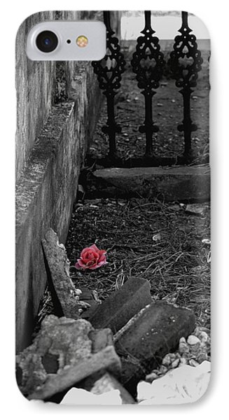 Solitary Rose Phone Case by Renee Barnes