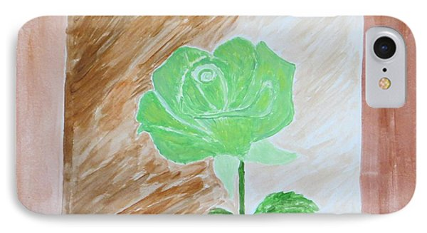 IPhone Case featuring the painting Solitary Rose by Sonali Gangane