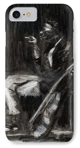 IPhone Case featuring the drawing Son House In Charcoal by Denny Morreale
