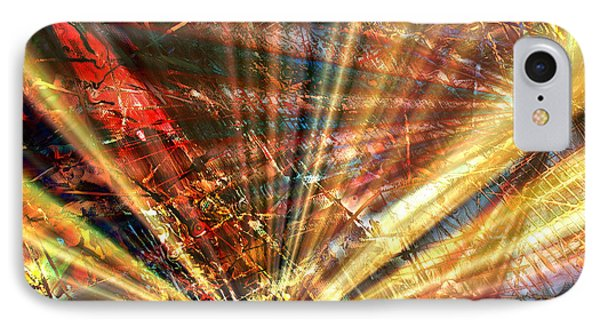 IPhone Case featuring the painting Sound Of Light by Kathy Sheeran