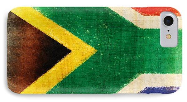 South Africa Flag Phone Case by Setsiri Silapasuwanchai