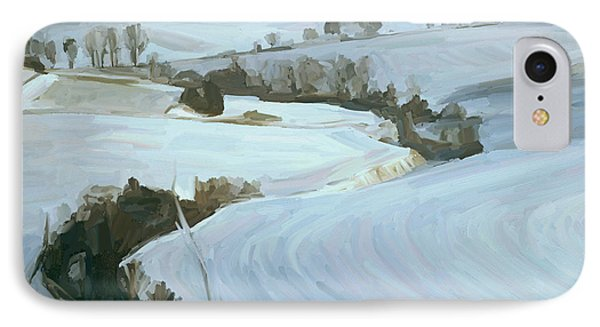 South Limburg Covered With Snow Phone Case by Nop Briex