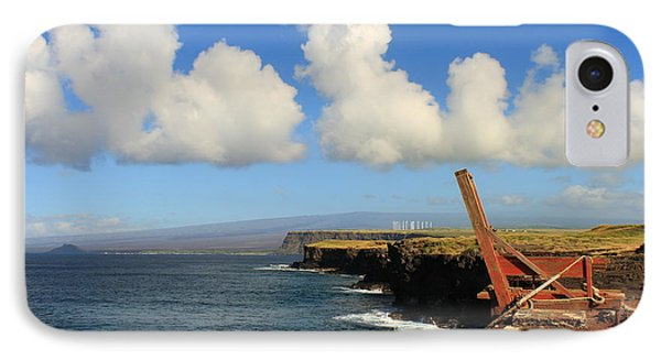 IPhone Case featuring the photograph South Point Hawaii Boat Hoist by Scott Rackers