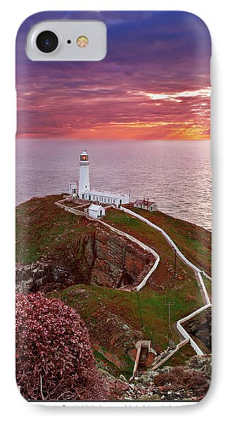 IPhone Case featuring the photograph South Stack Lighthouse by Beverly Cash