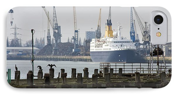 Southampton Old Pier And Docks Phone Case by Jane Rix