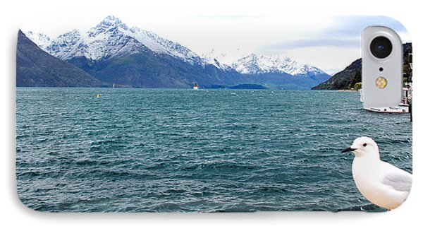 IPhone Case featuring the photograph Southern Alps Across Lake Wakatipu by Laurel Talabere