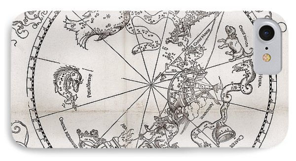 Southern Hemisphere Star Chart, 1537 Phone Case by Middle Temple Library