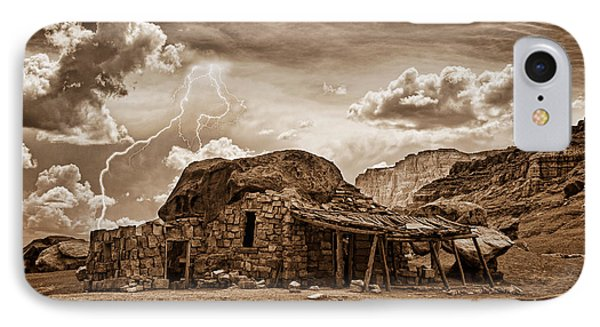 Southwest Indian Rock House And Lightning Striking Phone Case by James BO  Insogna
