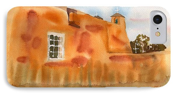 IPhone Case featuring the painting Southwest Walled Monastery by Sharon Mick