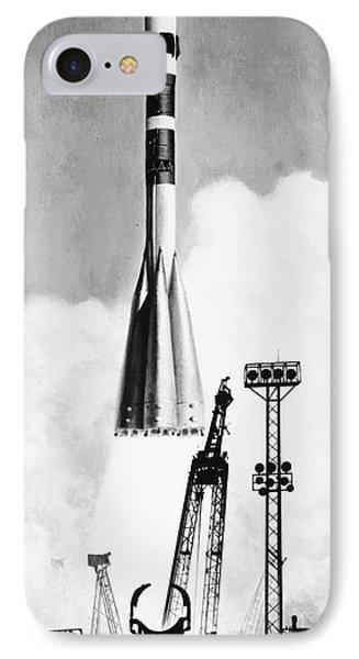 Soviet Soyuz Rocket, 1975 Phone Case by Granger
